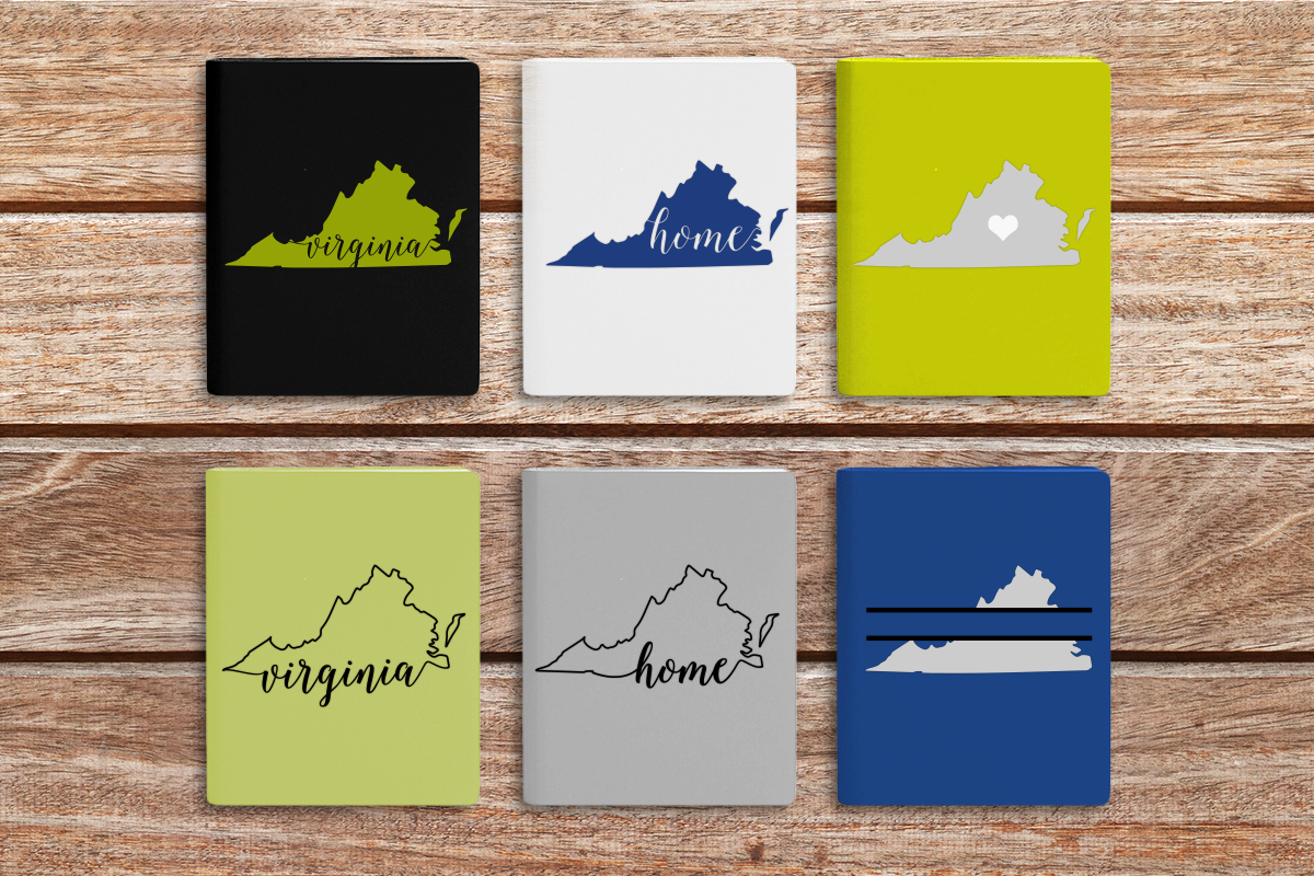 State Of Virginia Set Svg Png Dxf By Designed By Geeks