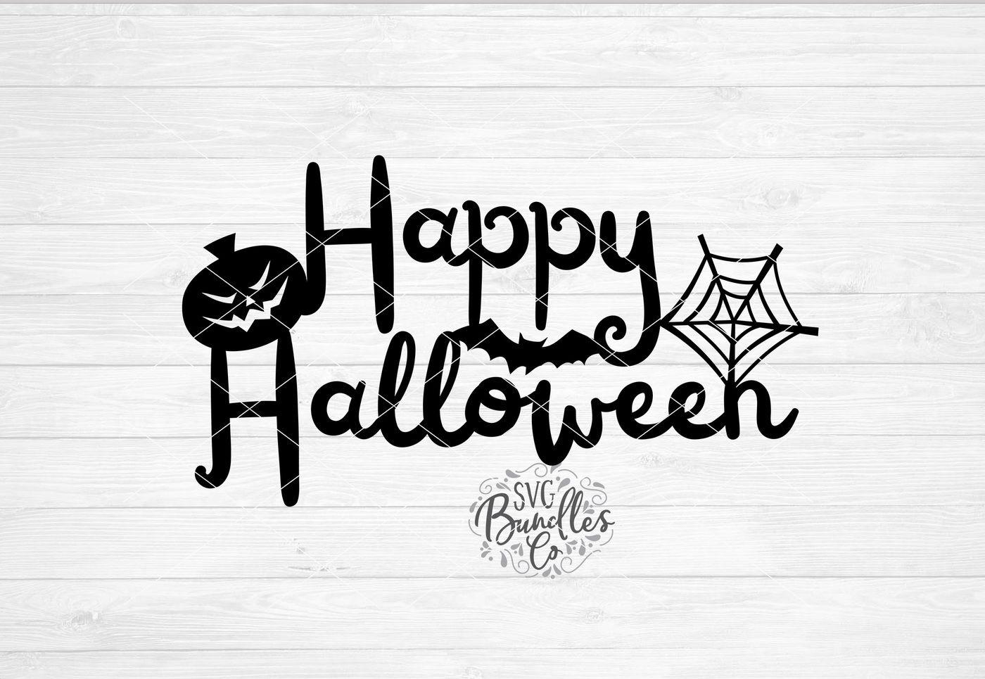 Happy Halloween Svg Dxf Png By Svgbundlesco Thehungryjpeg Com