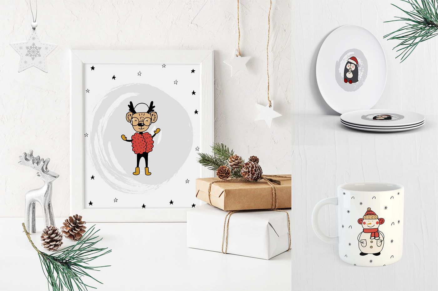 Christmas World Holiday Collection By Allure Art Thehungryjpeg Com