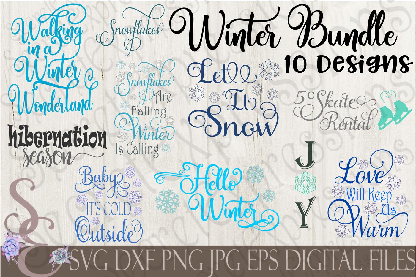 Winter Svg Bundle By Secretexpressionssvg Thehungryjpeg Com