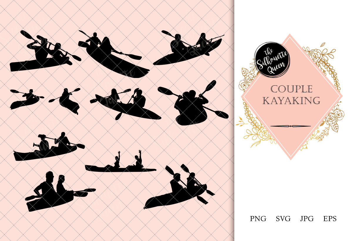 Download Free Svg Cut Files Design For Cricut Machine Silhouette Kayak Svg