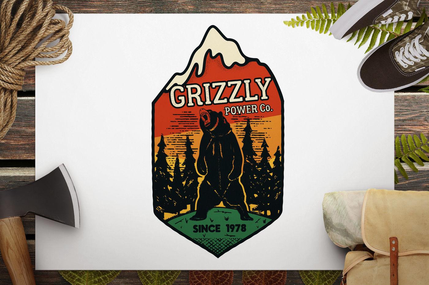 Wild Animal Retro Svg Logo Camping By Jekson Graphics