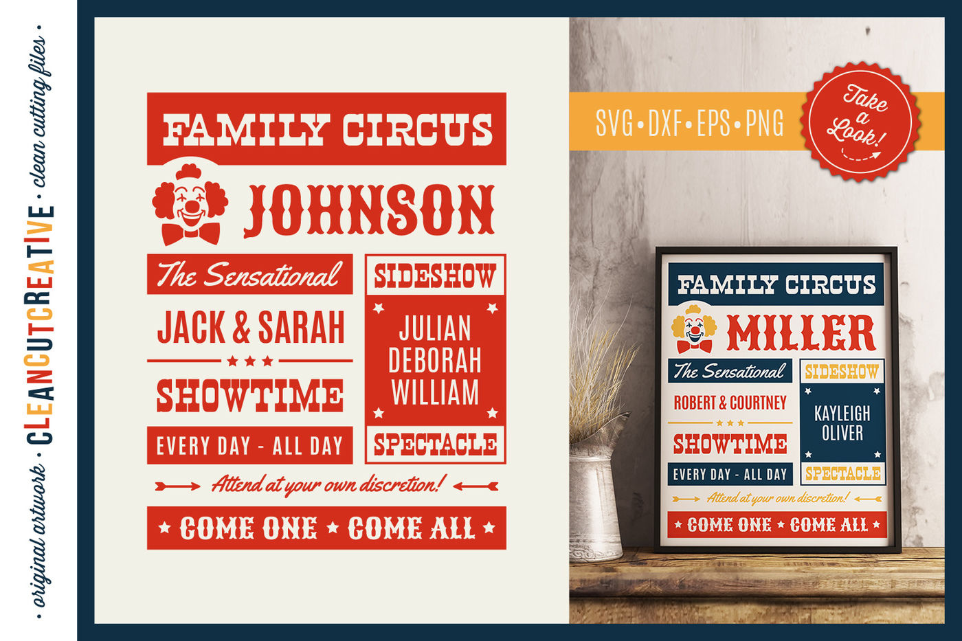 Funny Family Circus Svg Cut File For Cricut Silhouette Scanncut