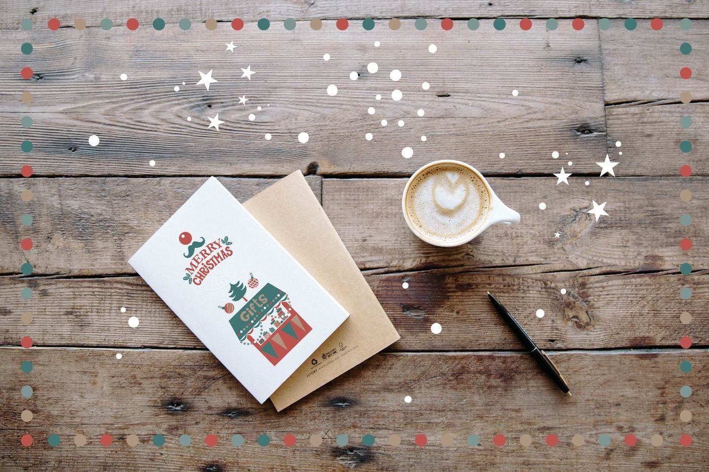 Christmas Mail Stamps And Stickers By Maru Art Thehungryjpeg Com
