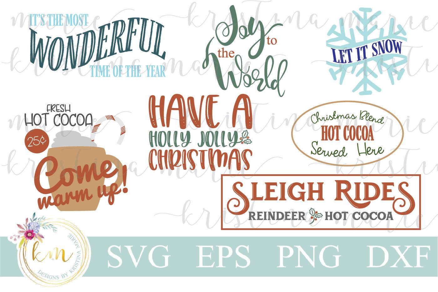 Christmas Svg Bundle By Kristina Marie Designs Thehungryjpeg Com