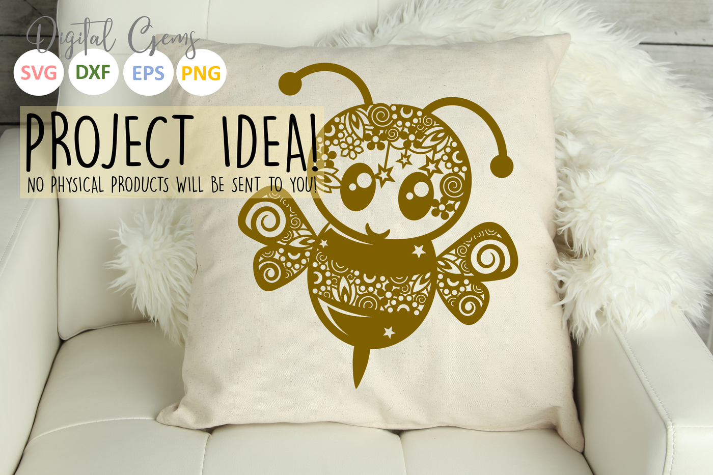 Bee Papercut Design By Digital Gems Thehungryjpeg Com
