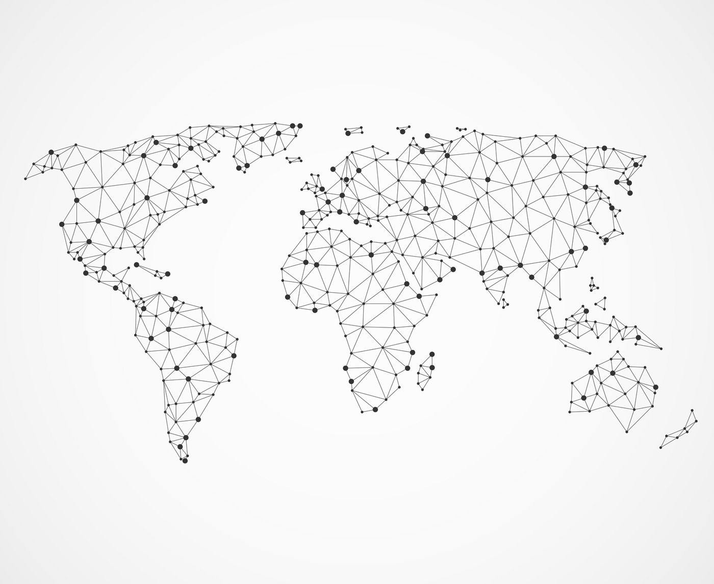 Networking World Map Texture Low Poly Earth Vector Global