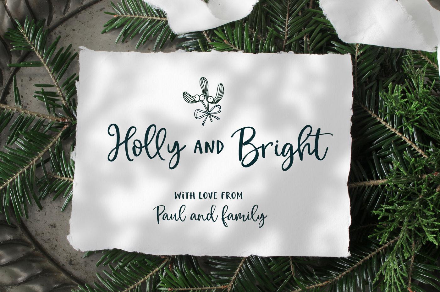 Magic Winter Script Font Duo Logos By Tabita S Shop