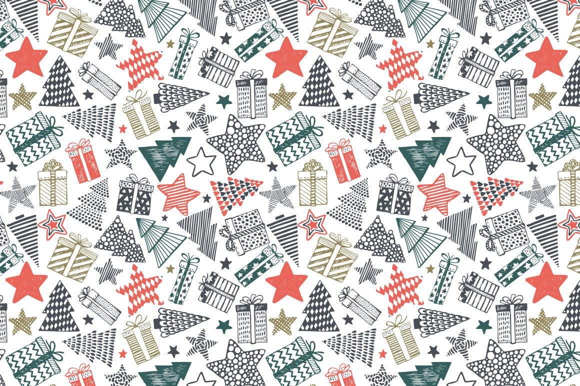 Christmas Sketch Collection By Fancy Art Thehungryjpeg Com