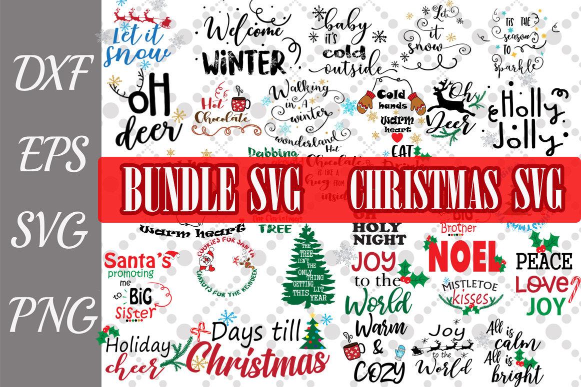 Christmas Bundle Svg Winter Quotes Svg By Prettydesignstudio