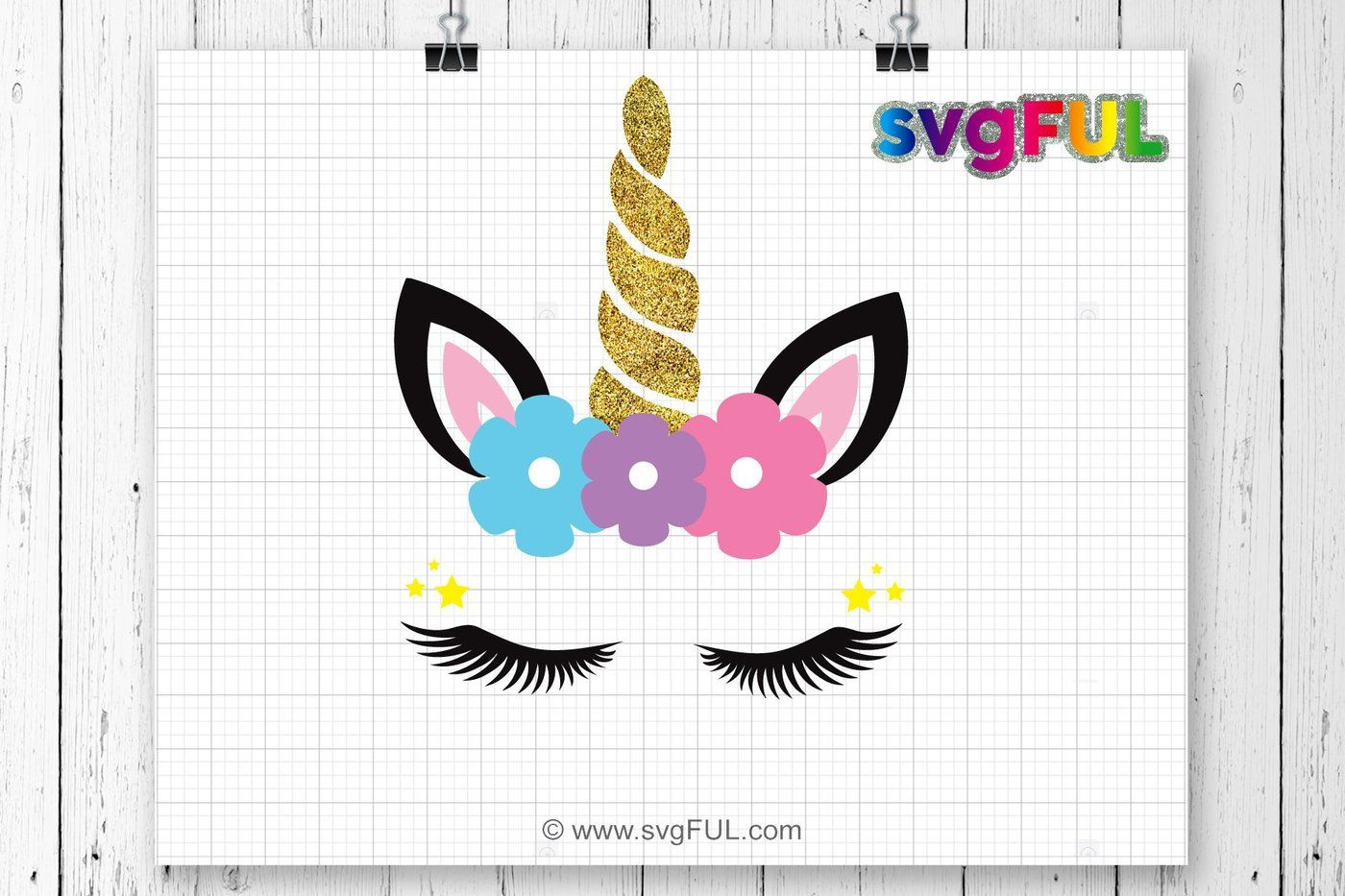Glitter Unicorn Head Svg Unicorn Clip Art Unicorn Face Svg Cute