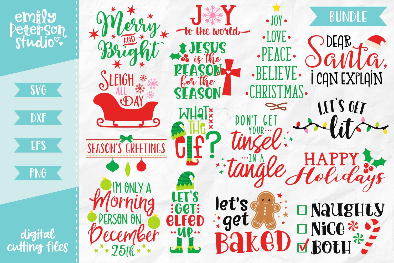 Christmas Bundle Svg Dxf 15 Designs V1 By Emily Peterson Studio