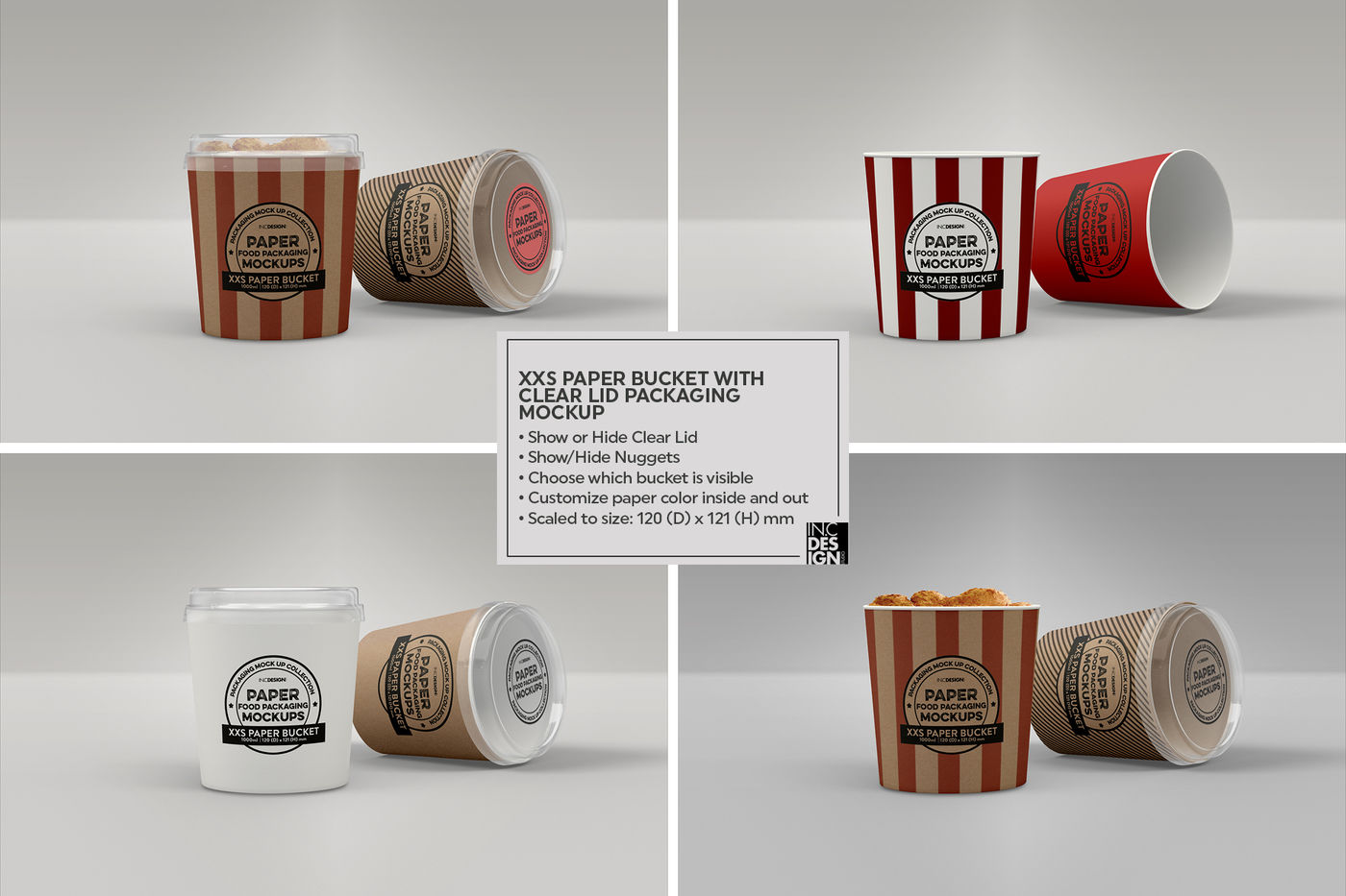 Frosted Glass Cosmetic Bottle Wooden Cap Mockup