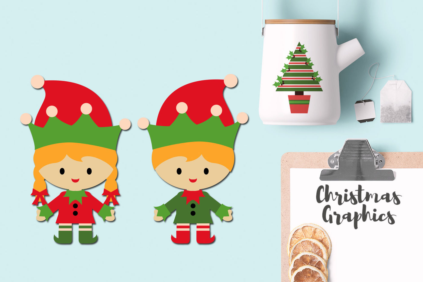 Christmas Elves Party Graphic By Blessedgrafik Thehungryjpeg Com