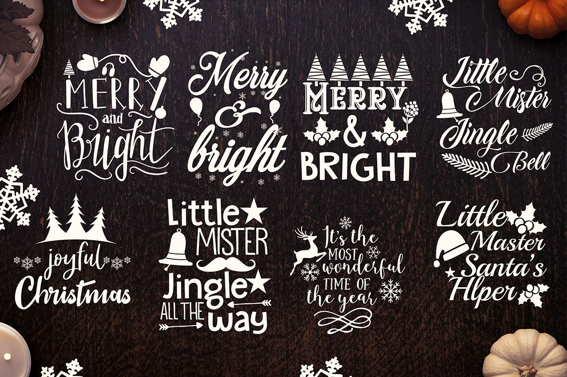 Christmas Quotes Svg.Christmas Quotes Svg Design By Buzzaart Thehungryjpeg Com