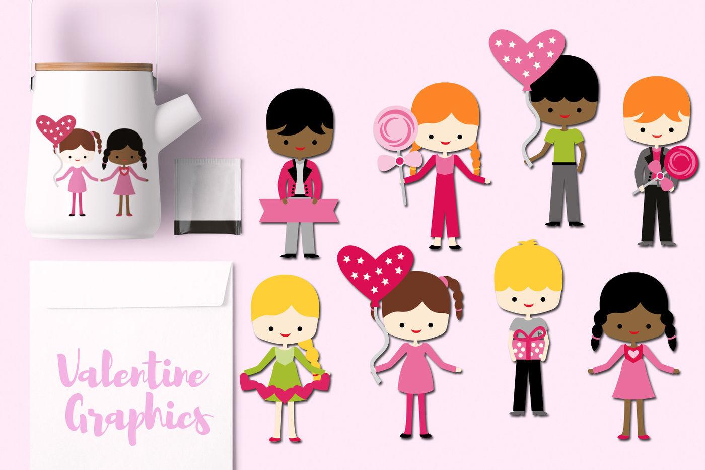 Valentine Children By Blessedgrafik Thehungryjpeg Com