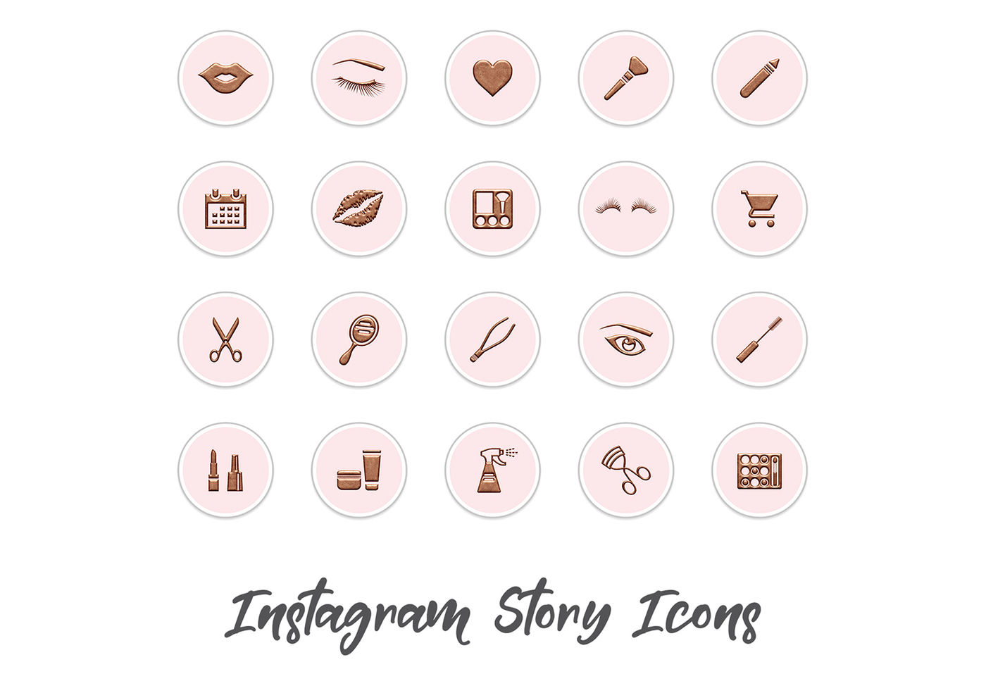 Beauty Instagram Story Icons By North Sea Studio Thehungryjpeg Com