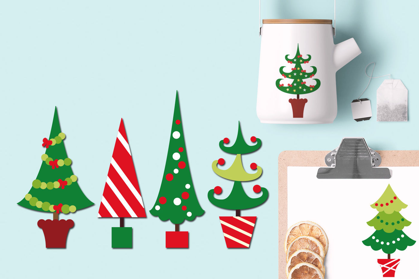 Christmas Trees Graphics By Blessedgrafik Thehungryjpeg Com