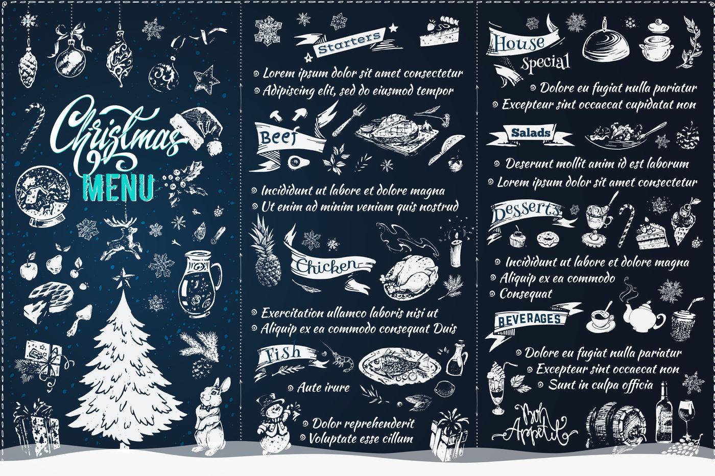 Christmas Menu Design By Margo Miller Thehungryjpeg Com