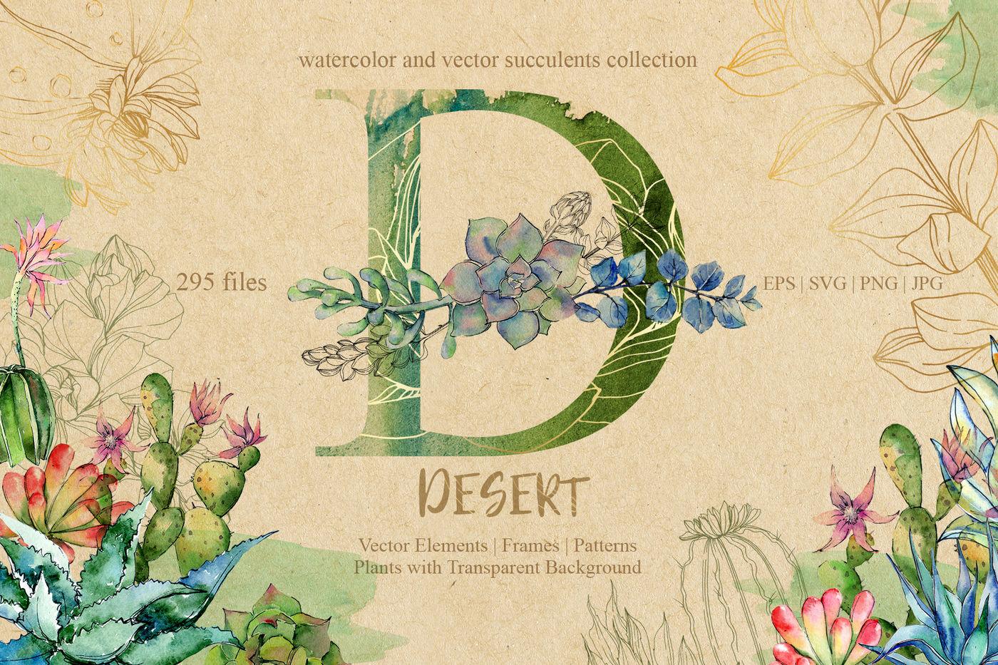 D Desert Eps Svg Png Jpg Set By Mystocks Thehungryjpeg Com