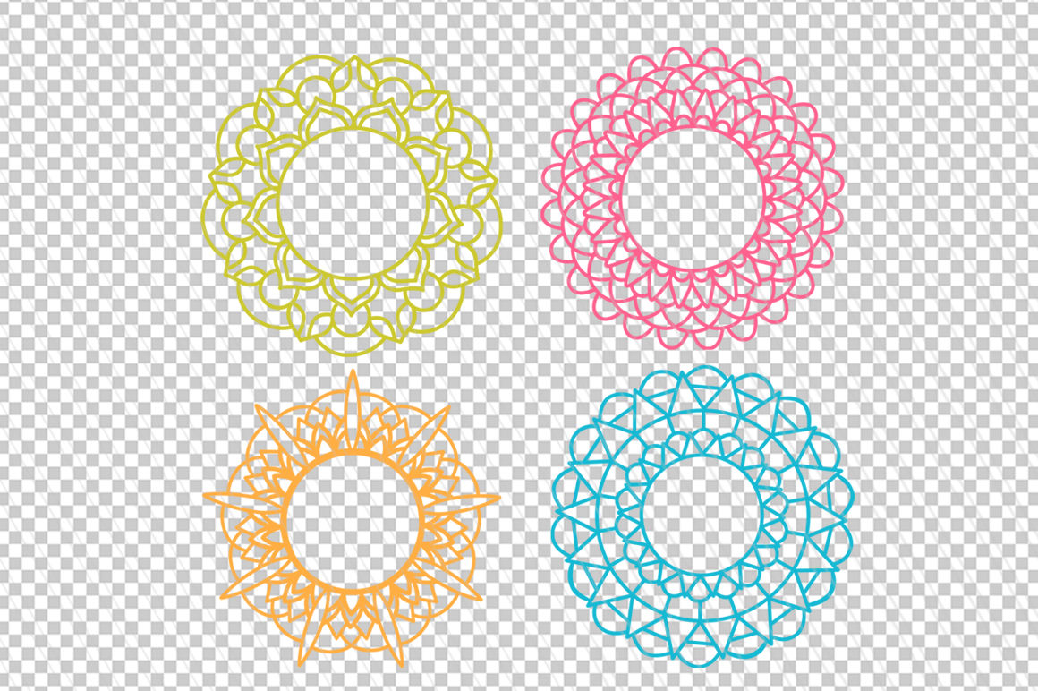 Download Mandala SVG, DXF cutting files, Mandala monogram frames ...