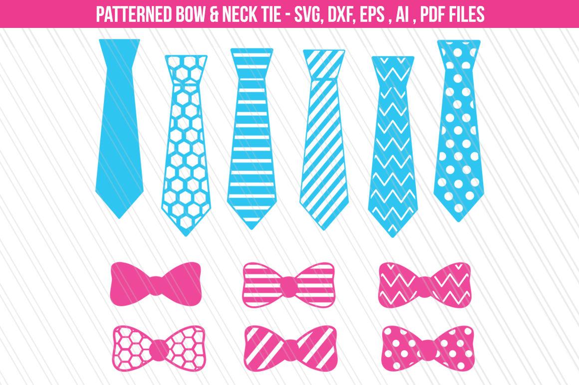 Bow Neck Tie Svg Dxf Cut Files By Aivosdesigns Thehungryjpeg Com