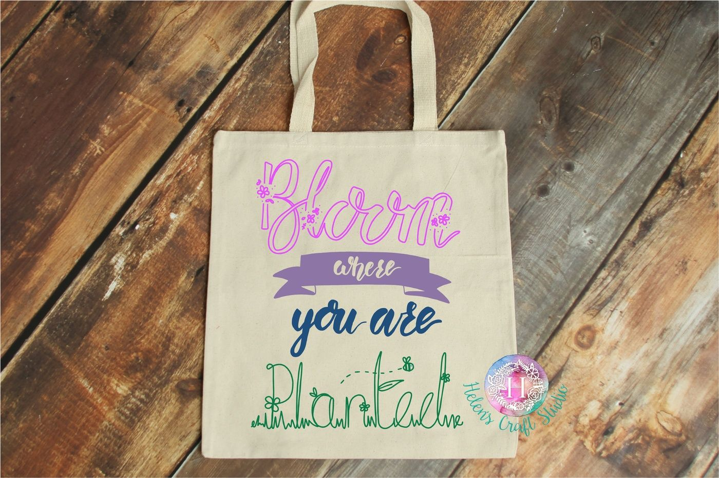 Bloom Where You Are Planted Svg Dxf Png Pdf And Jpeg Cutting File By Helens Craft Studio Thehungryjpeg Com