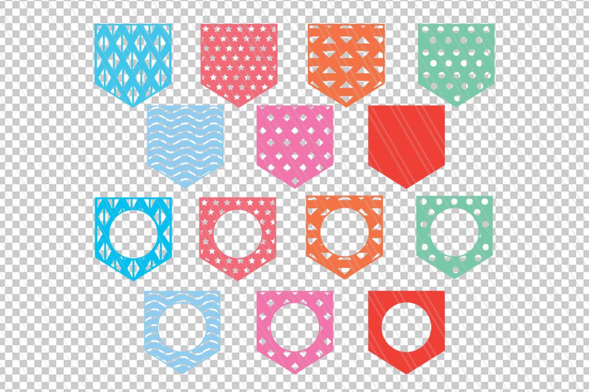 Pocket Svg Dxf Monogram Pocket Svg Cut Files By Aivosdesigns