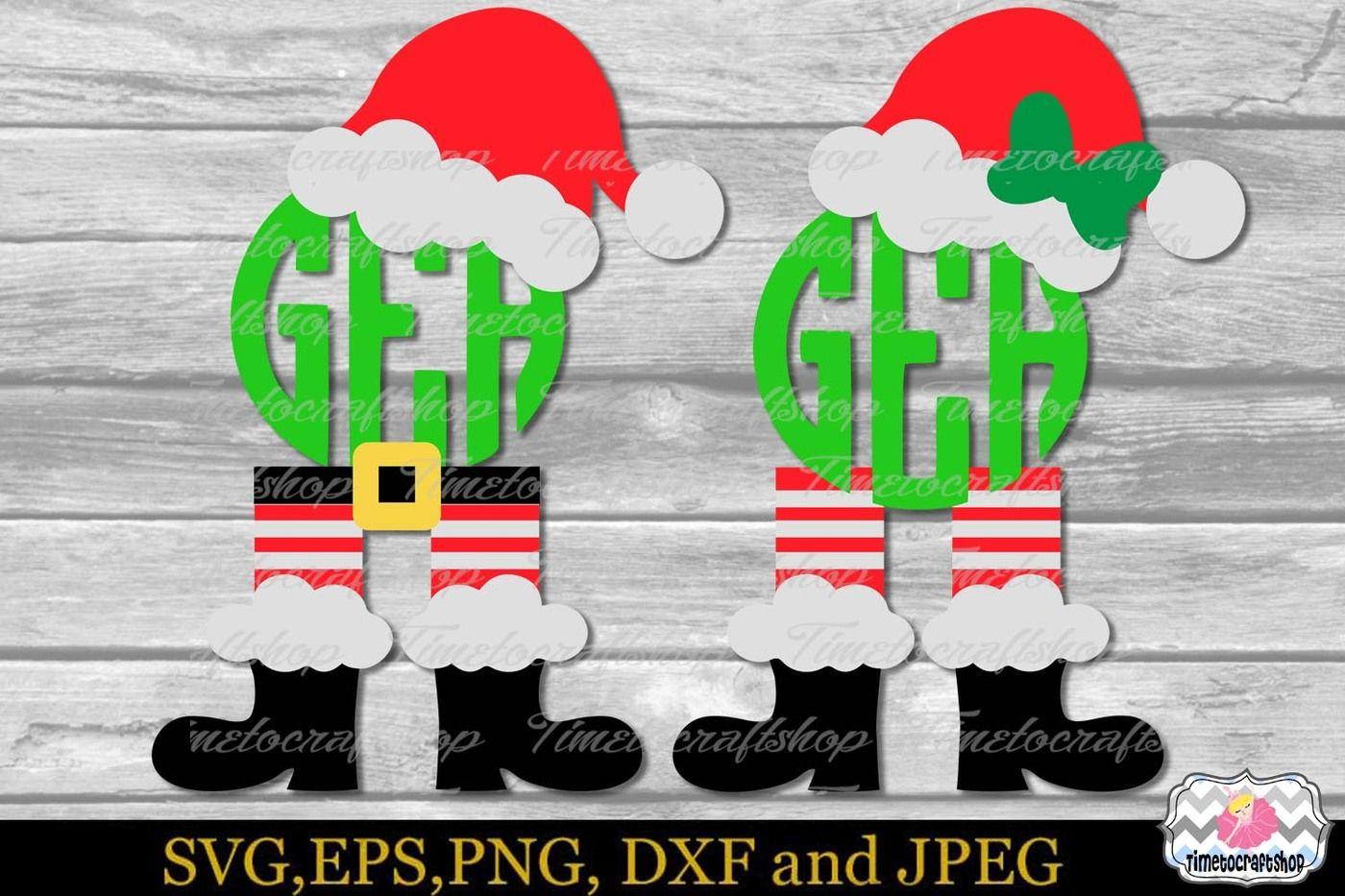 Christmas Monogram Santa Hat Santa Legs Santa S Boots By