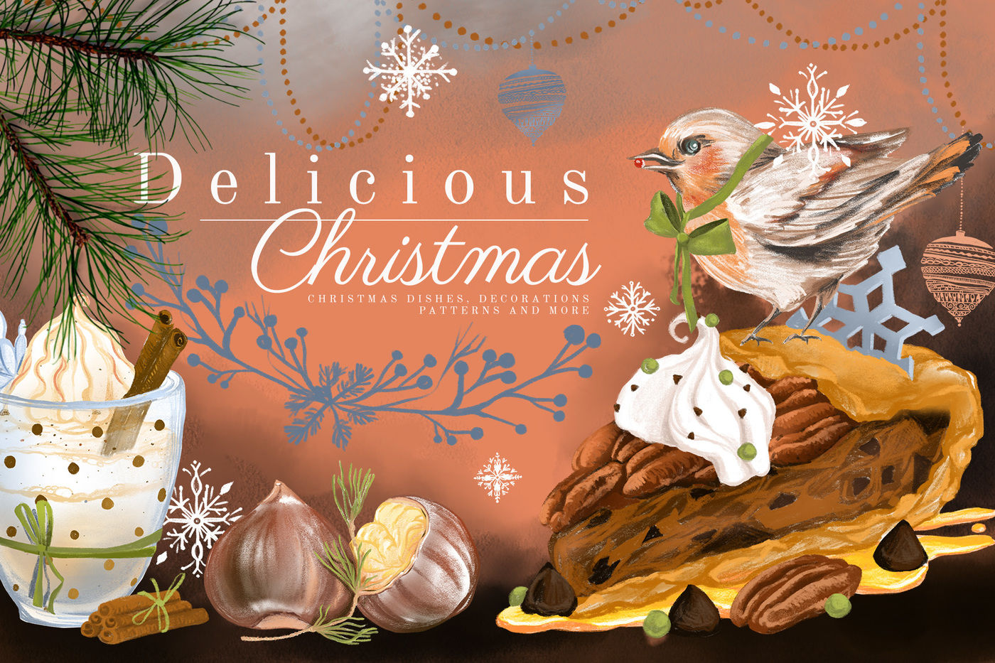 Delicious Christmas By Anna S Creations Thehungryjpeg Com
