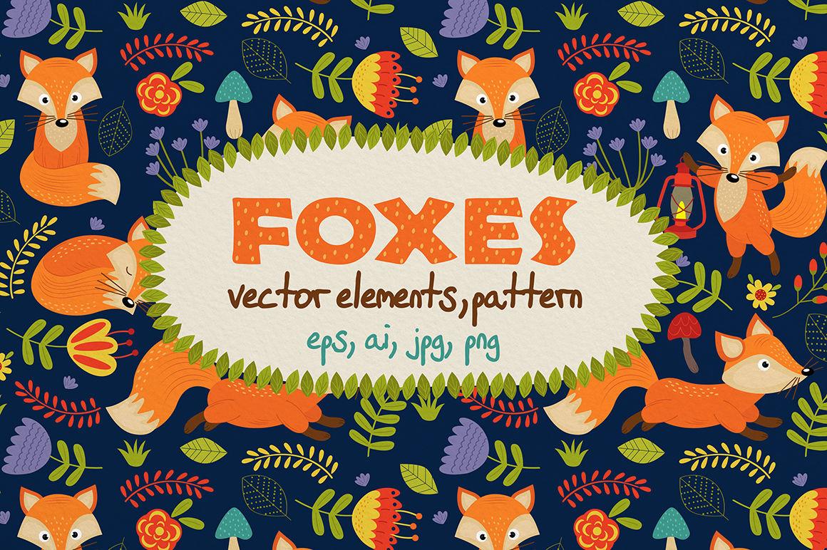 Fox Set By Nataka Thehungryjpeg Com