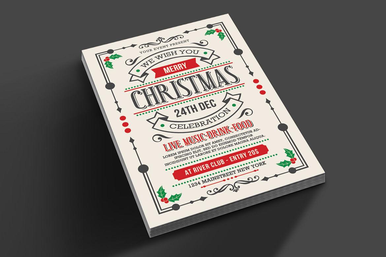 Christmas Flyer By Muhamadiqbalhidayat Thehungryjpeg Com