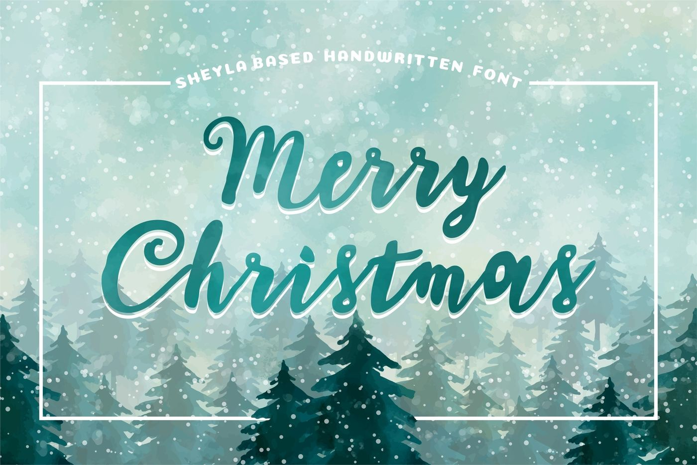 Sheyla Amazing Handwriting Font In Merry Christmas Cover By