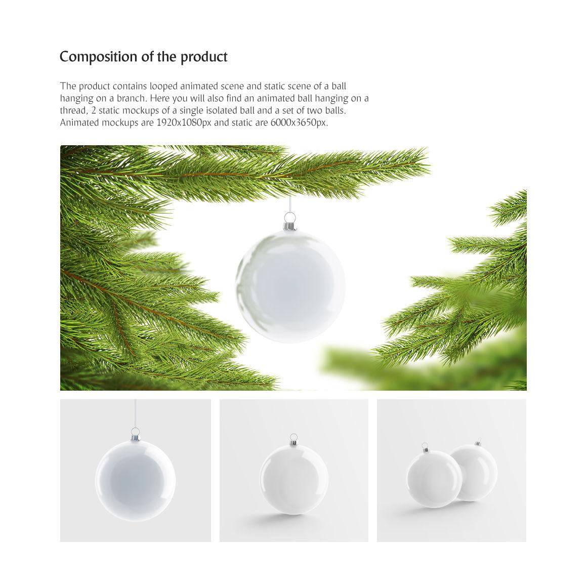 Christmas Tree Ball Animated Mockups Set By Rebrandy