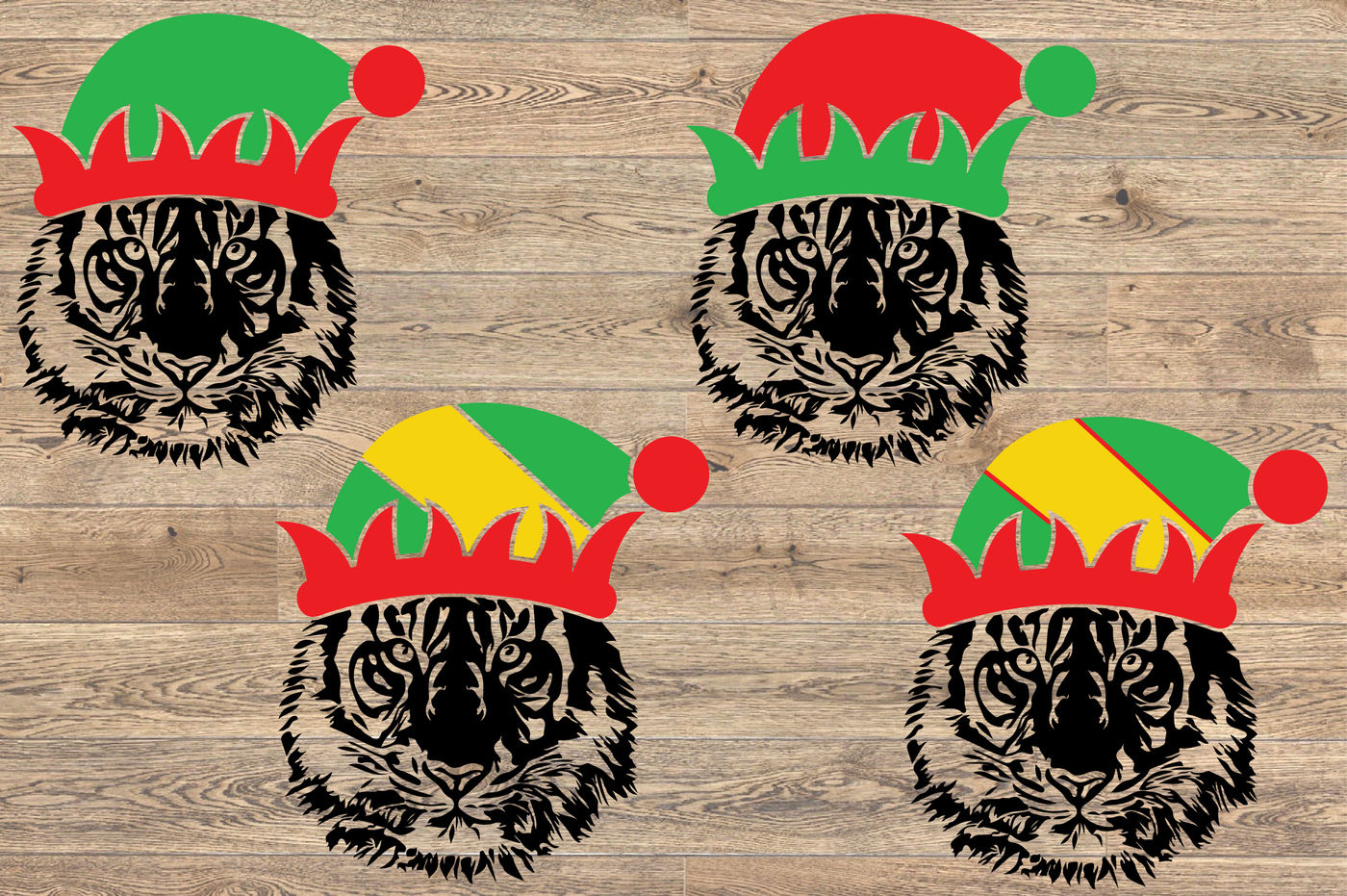Tiger Elf Christmas Hat Svg Tigers Santa Hat Football 1085s By