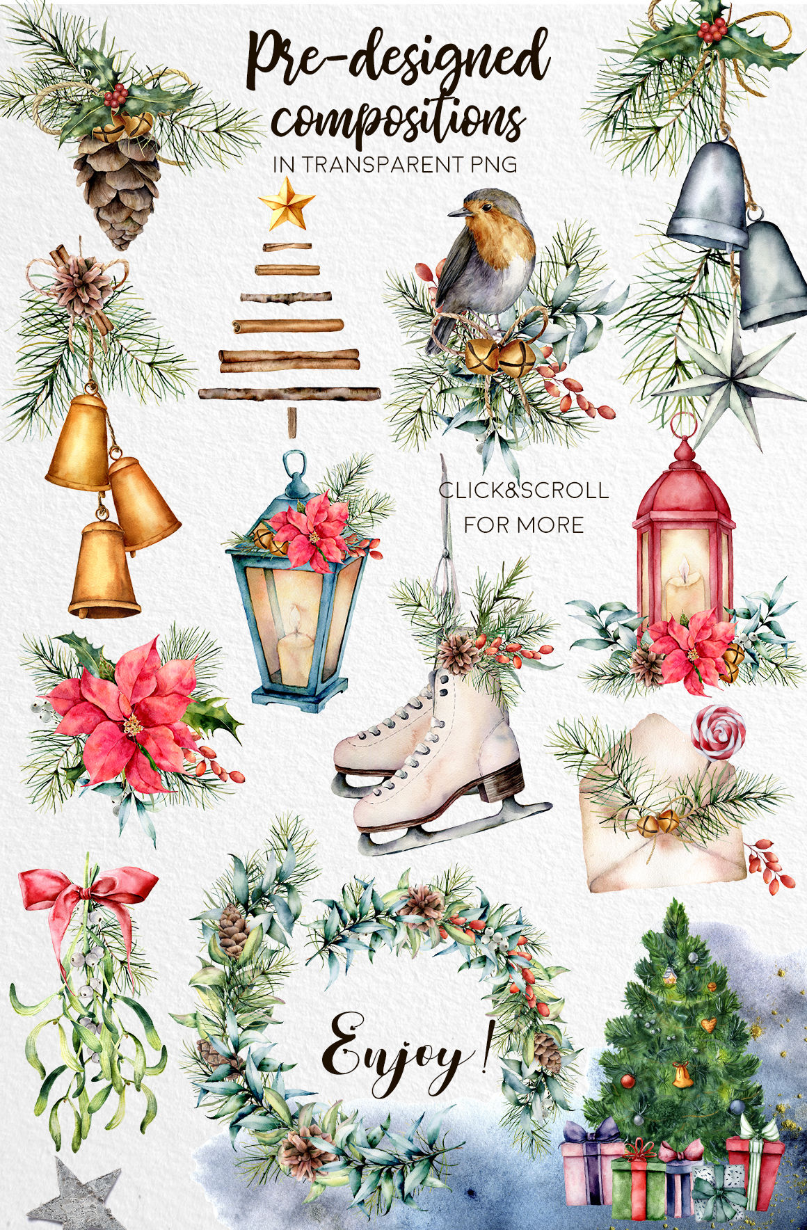 Christmas Traditions Watercolor By Yuliya Derbisheva