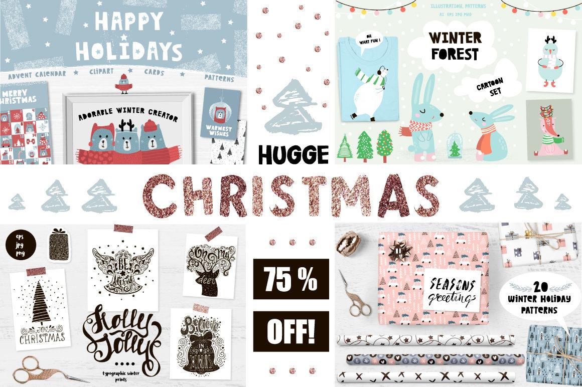 Hugge Christmas Mega Bundle By Solmariart Thehungryjpeg Com