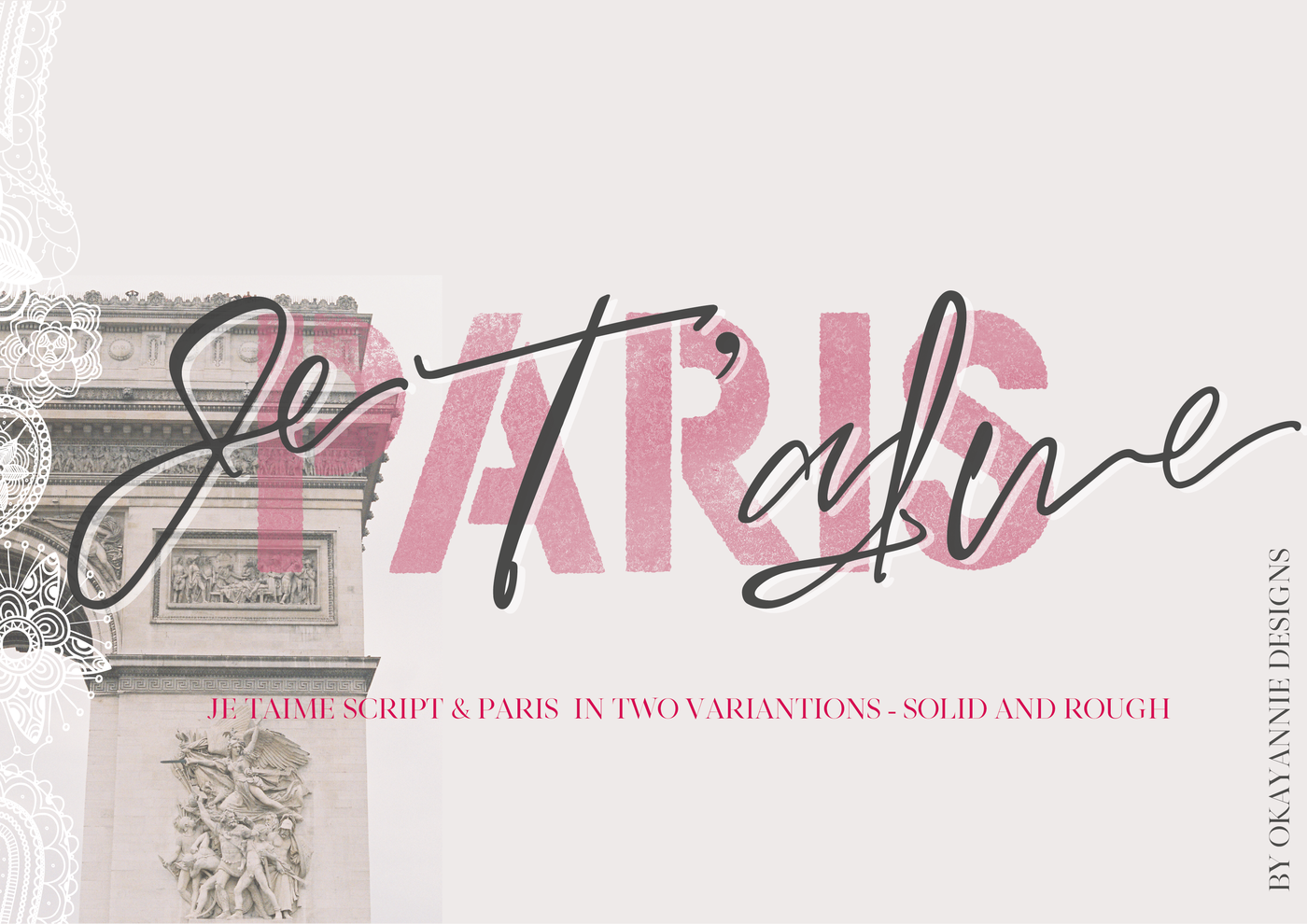 Paris Je T Aime Font Duo By Okayannie Designs Thehungryjpeg Com