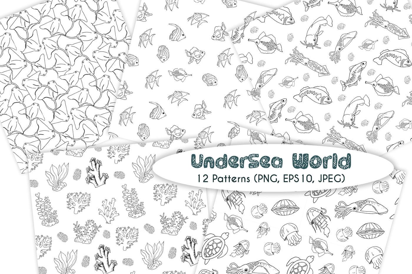 UnderSea World - vector set By Watercolor Arts
