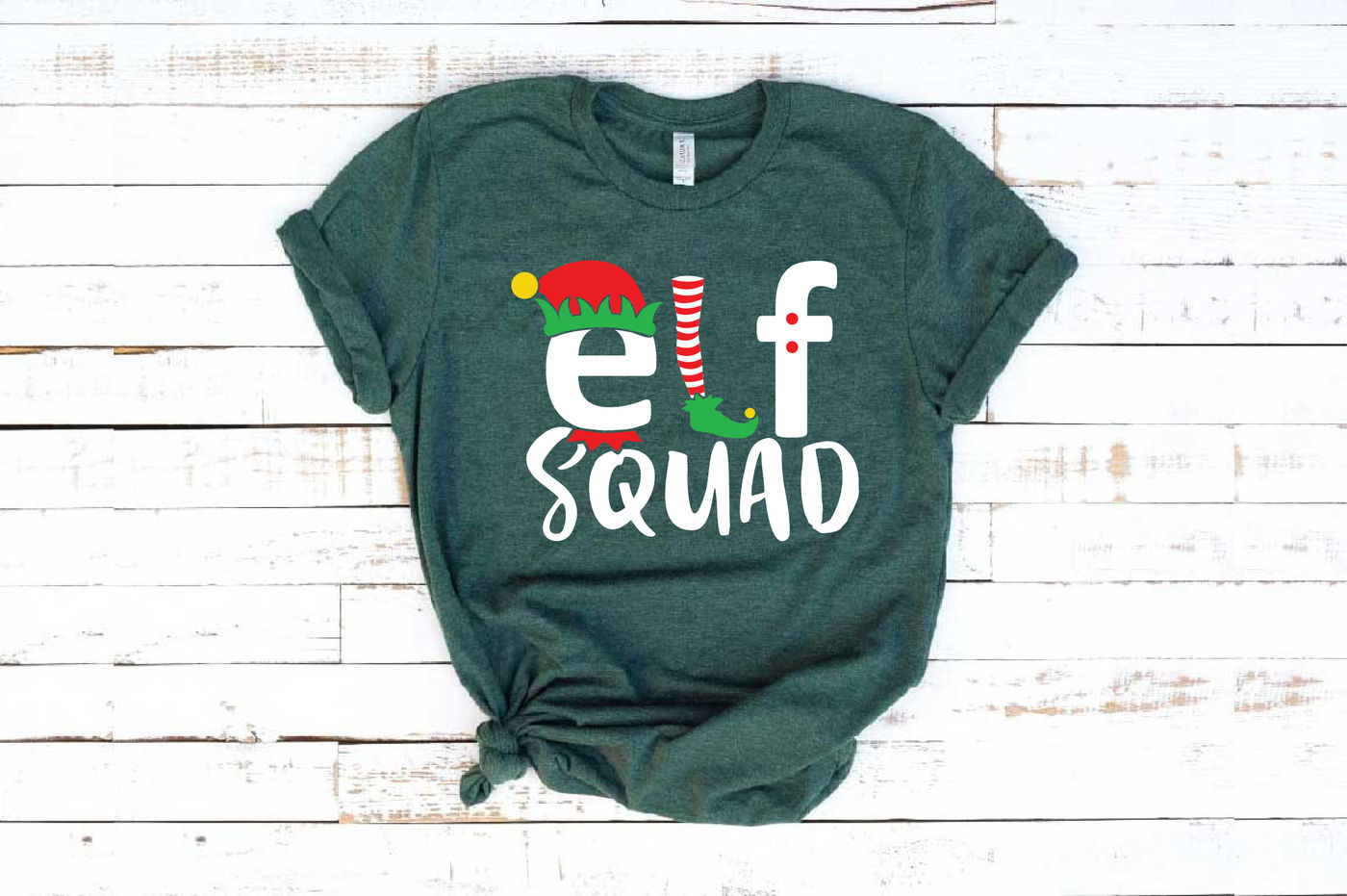 Elf Squad Svg Christmas Svg Funny Elf Shirt Santa Hat Svg 1088s By Hamhamart Thehungryjpeg Com