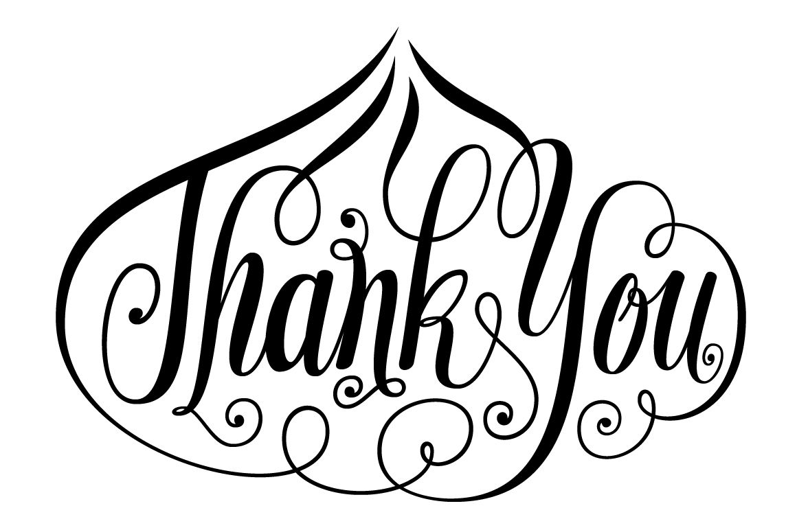 Thank You Onion Shape Lettering Svg By Darwinoo Thehungryjpeg Com