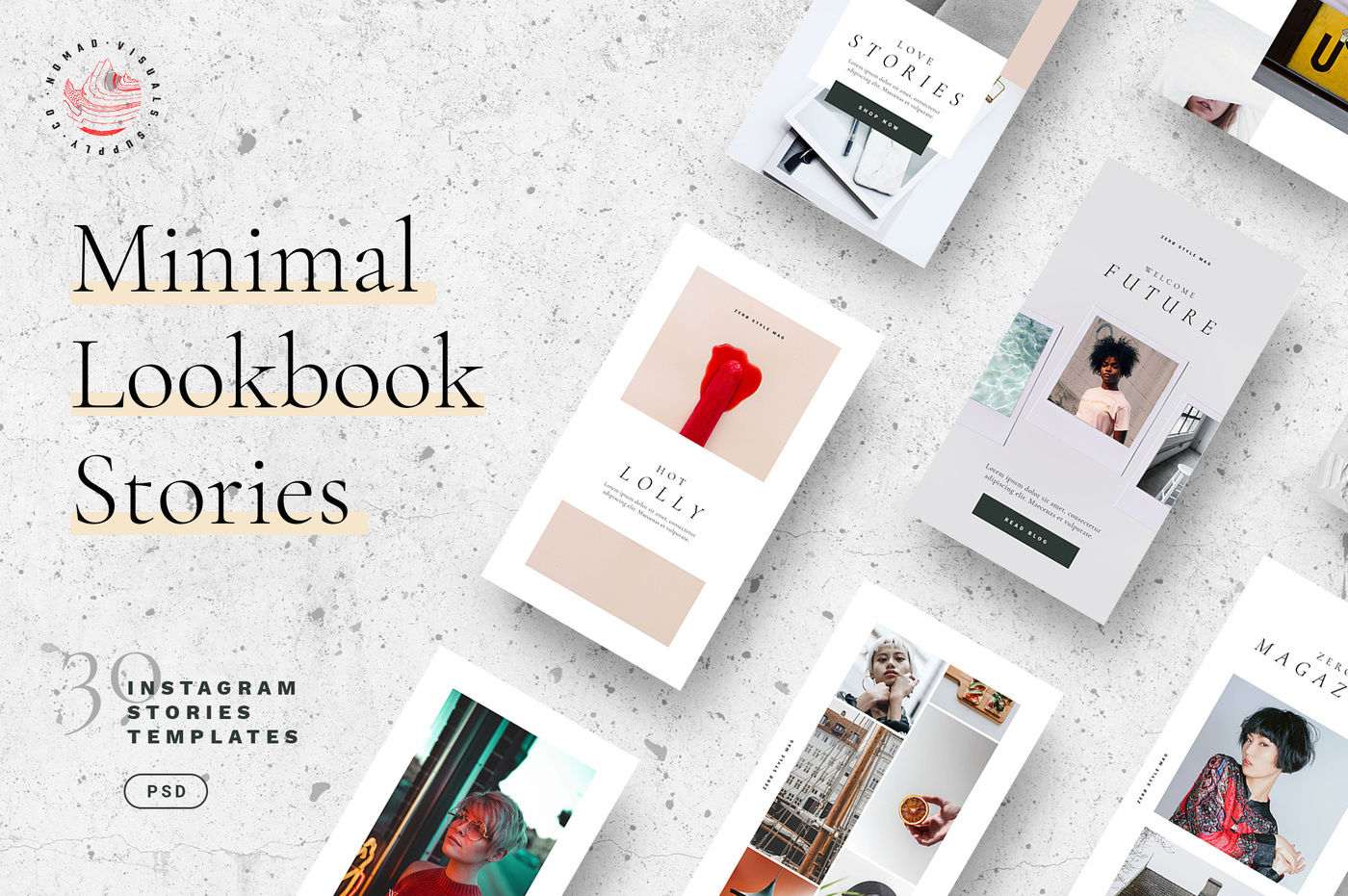 Minimal Lookbook Instagram Stories Templates By Nomad Visuals