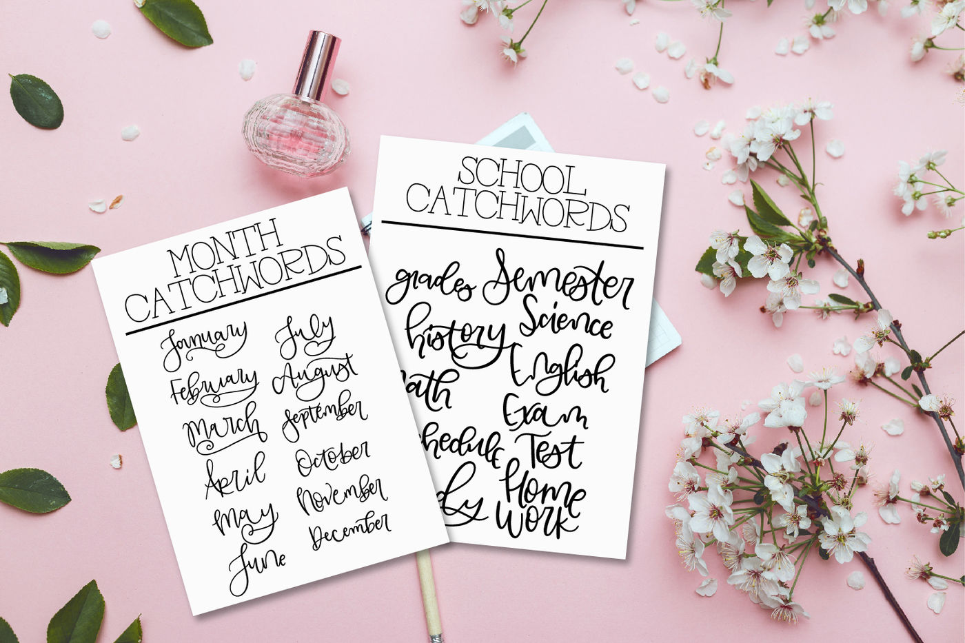 Planner Catchwords By Craftylittlenodes Thehungryjpeg Com