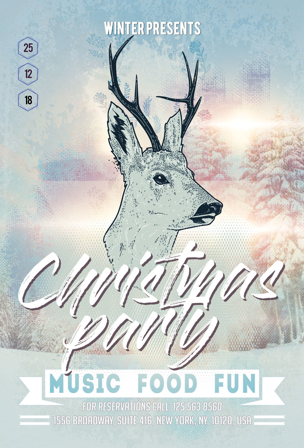 Christmas New Year Party Flyer By Artolus Thehungryjpeg Com