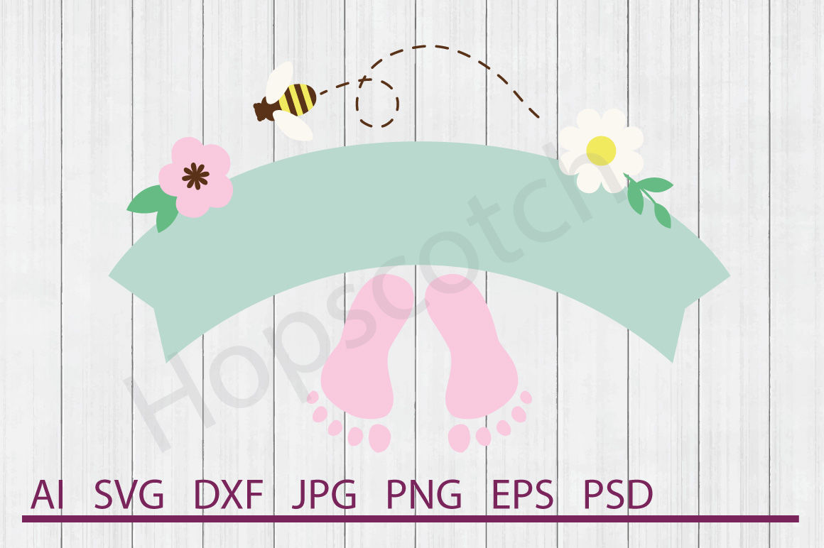 Baby Girl Banner Svg Baby Girl Banner Dxf Cuttable File By