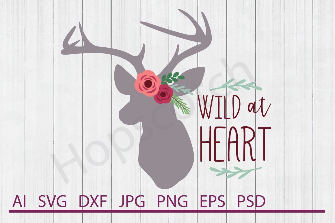Floral Deer Svg Floral Deer Dxf Cuttable File By Hopscotch