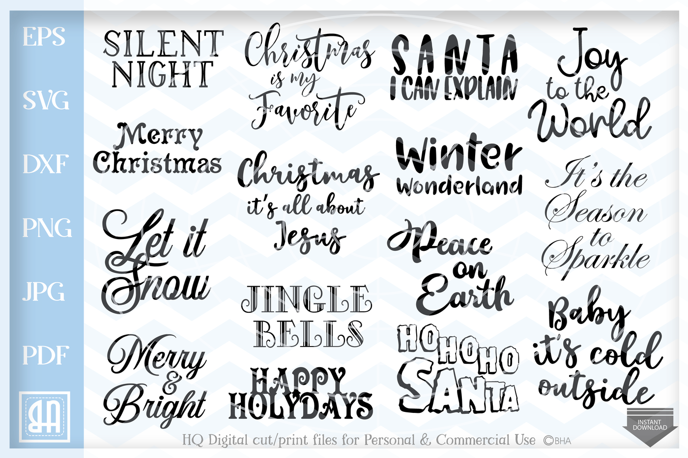 Christmas Sayings Bundle Svg Christmas Sayings Svg Christmas