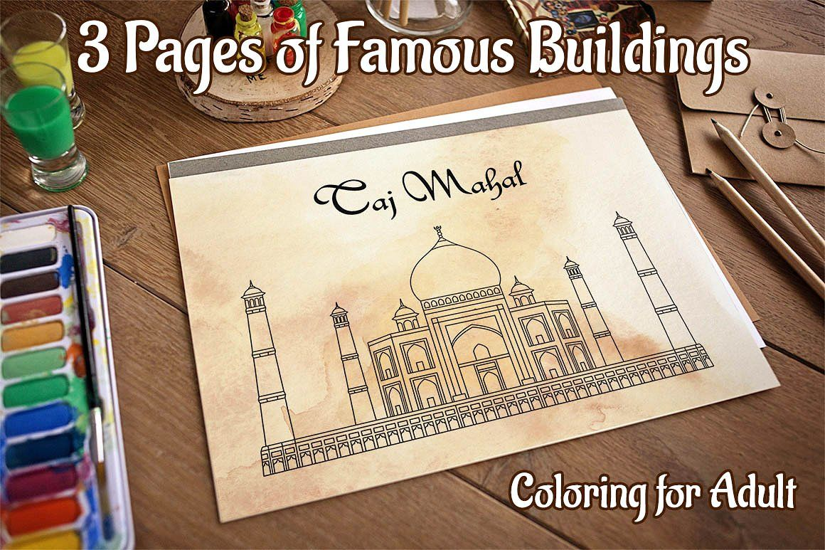 Coloring Pages With Indian Temples By Dacascas Thehungryjpeg Com