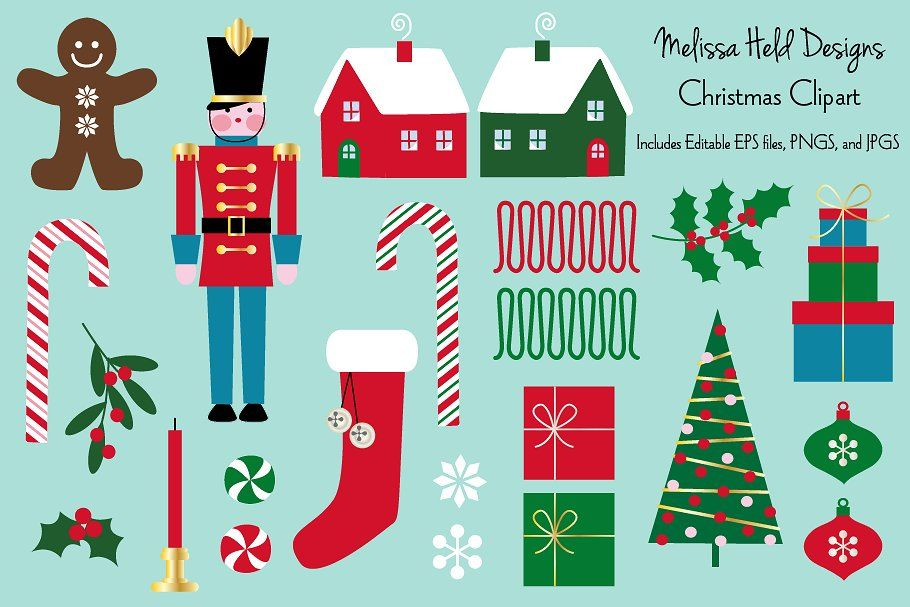 Traditional Christmas Clipart By Melissa Held Designs