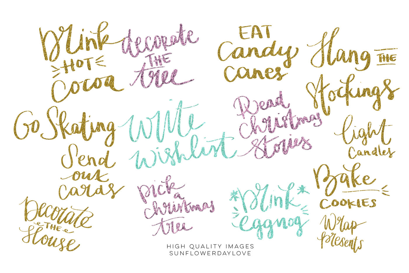 Holiday Bucket List Clip Art Christmas Decorative Planner